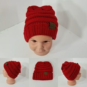 Other - Baby Beanie hats thermal protective outdoors Red